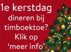 Kerstdiner bij Timboektoe - agenda Timboektoe
