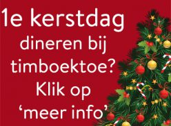 Kerstdiner bij Timboektoe - Agenda van Timboektoe
