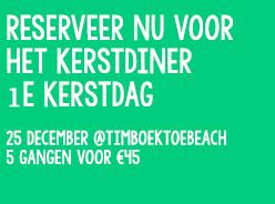 Kerstdiner @timboektoe - agenda Timboektoe