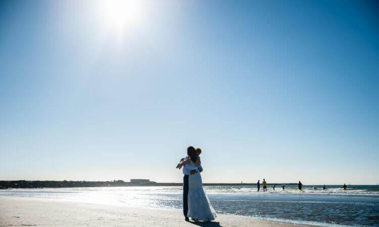 Bruiloft aan zee